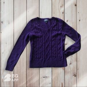 Chaps Cable Knit sweater size M